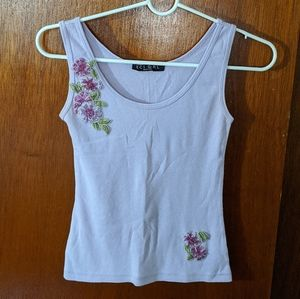 Vintage tank top with beautiful flowers